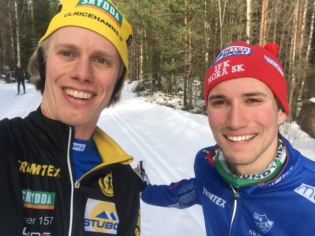 Daniel Svensson och jag körde ett halvt pass ihop cirka en vecka före Vasaloppet, där han var SVT:s reporter som körde med tätklungan. Daniel har haft en tung säsong, men blev igår skräll-2:a i Sverigecupen i Kalix på 10 km F  efter Calle Halfvarsson.