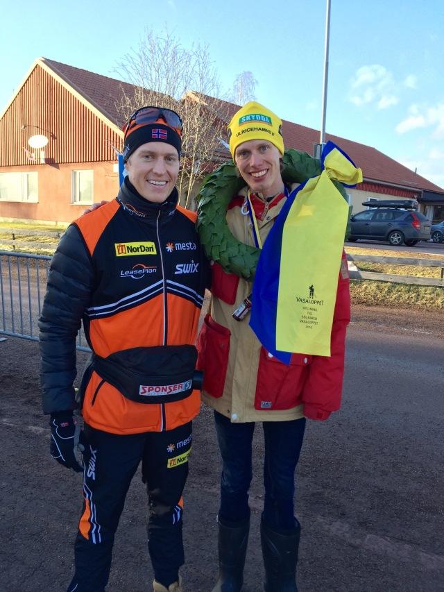 Petters segerkrans i Vasaloppet 2015