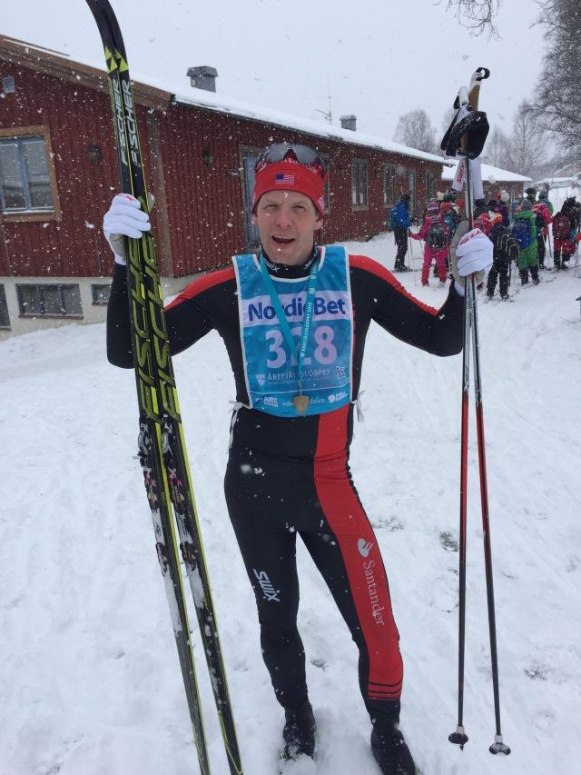 Team Santander-ledaren Nils Marius Otterstad blev 4:a dagens 3.5-lopp i snöfallet.
