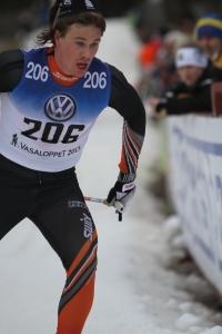 Gustav Eriksson mot en 12:e-plats i Vasaloppet 2015. Foto: Ulf Wickström.