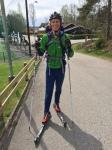 Eftersom jag bor i Lundaskog bara 3 km från Sjömarken tog jag rullskidorna (självklart 4:or) till och från tävlingen.