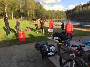 Borås Swimrun har egna träningar vid Kypesjön