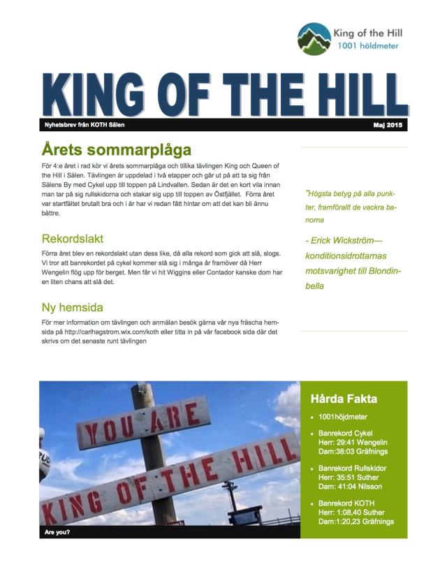 King of the Hill Sälen 23 juli 2015