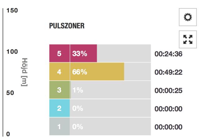 Partyzonen 33 procent enligt Polar V800