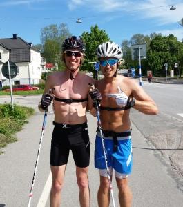 Bra stakpass med Rickard Bergengren i fredags. Som vanligt soligt i Borås.