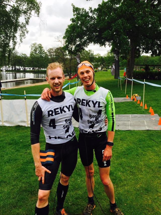"""Andreas Glad och jag bildade laget """"Filip Blad från Filipstad"""" och blev 2:a i sprintklassen i Borås Swimrun"""