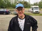 Martin Flintas var på plats dagen innan. Hans son som skulle kört med sin fru Eva Nyström kom dock aldrig till start.