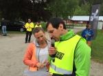 Elin Lilja och David Svensson funktionärade hårt i helgen