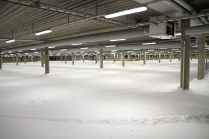 Skidhallen i Göteborgs Nya Arena skidome. Foto: Erik Wickström.