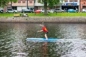 Magnus Lindstedt, bäst i Sverige på stående paddling