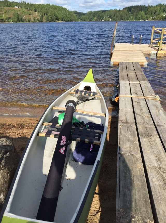 Det är inte ofta man får chans att ta kanot till rullskidsträningen