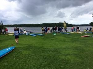 Tävlingscentrum vid Roxnäsudden.