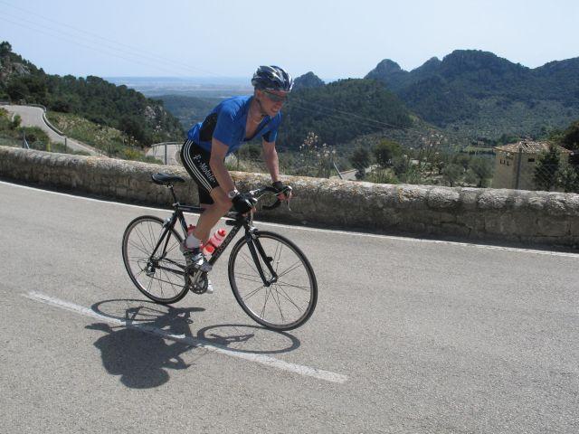 Magnus Jonsson på Mallorca 2008, på toppen av Col de Soller