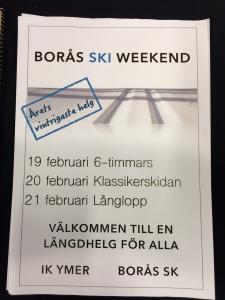 6 timmars i Borås 19 februari i samband med Borås Ski Weekend