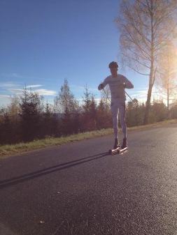 Jag på flacken innan sista uppförn av intervallen. Foto: Elisabeth Hansson.