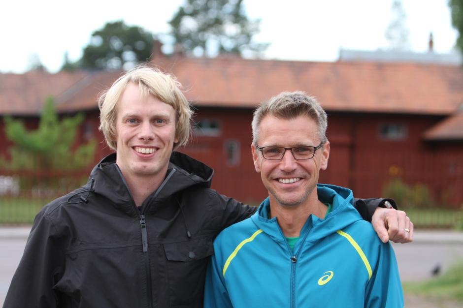 Jonas Buud och jag efter intervjun på Zorncaféet i Mora i september. Foto: Martin Josefsson.