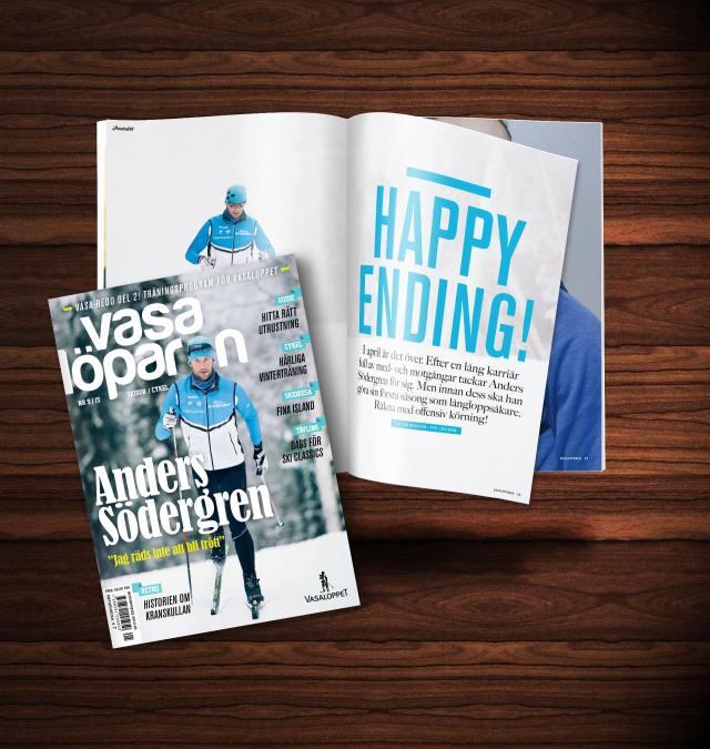 Anders Södergren på omslaget och en artikel på sex sidor i tidningen