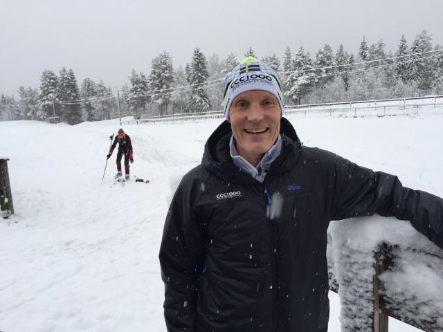 Sjur Jensen på skidstadion i Åsarna