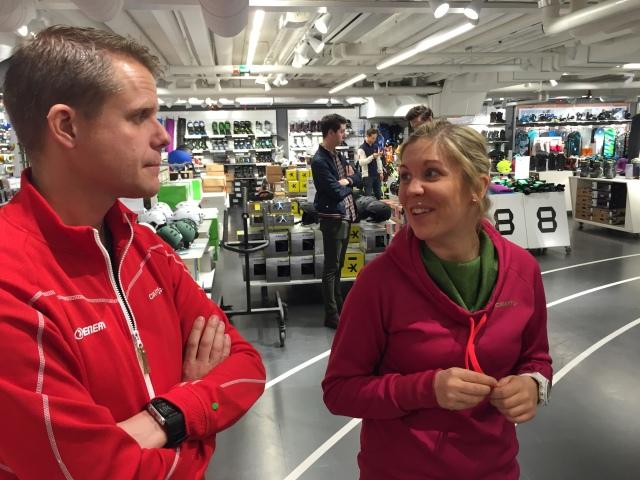 Enervit och Craft var två av leverantörerna på plats. Malin Andersson åkte tidigare skidor i Mullsjö så henne hade jag koll på redan innan hon började på Craft.