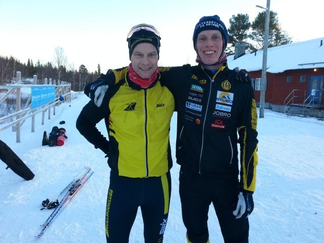 Tommie Lindblom, Mr Stockholms rullskidklubb. Det syns på bilden att jag tycker 7 km träningstävling är jobbigt.