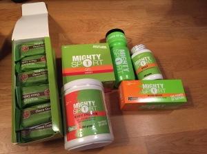 Mighty Sport sportdryck, barer, geler etc