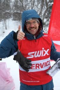 Jesper Johnsson gjorde ett grymt jobb som speaker vid Åre Swix Open 2015
