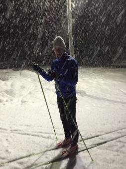 Jim i snöfall