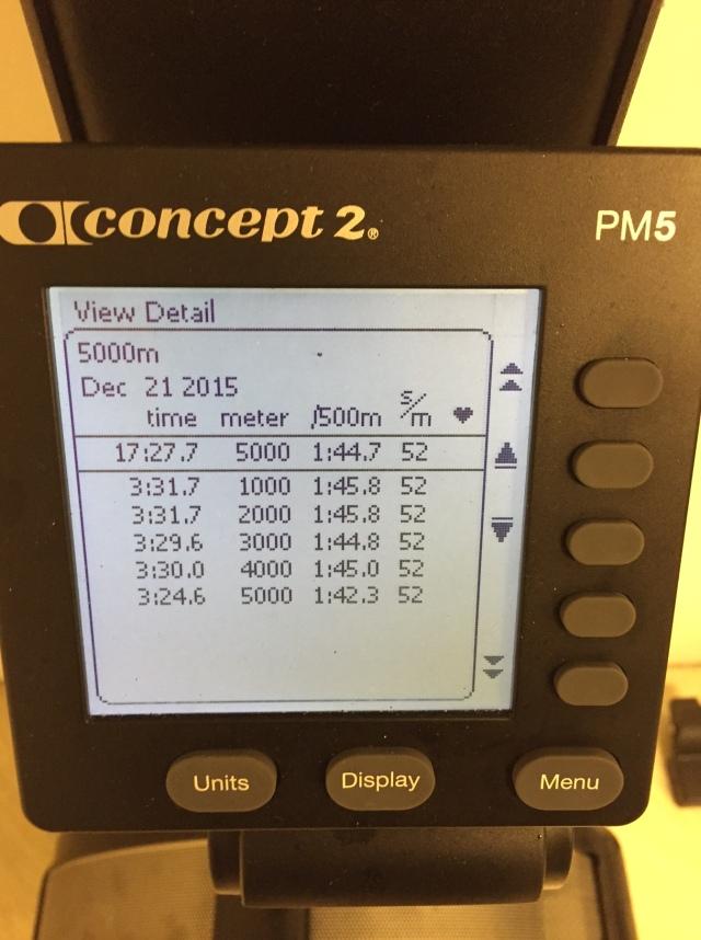 5000 m SkiErg på motstånd 8