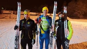 Pallen igår. Martin Gotting, Erik Wickström och Martin Damm.