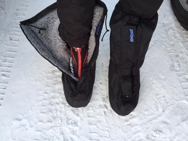 När det är kallt gillar jag att gå i mina skor som rymmer ett par skidskor