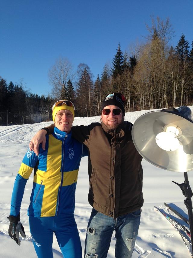 Tomas Eriksson, tidigare elitsimmare, fotar nu på elitnivå