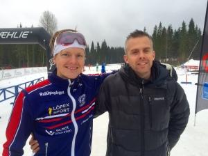 Partik Karlsson har lagt elitsatsningen på hyllan till denna säsongen, men kör ändå lite tävlingar. Kul att se dig i tävlingsdressen Patrik, men det känns oklart varför du lade klister på skidorna.