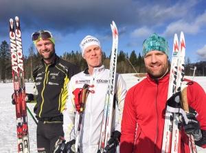 Samuel Norlén, jag och Sebastian Persson, ingen dålig trio.