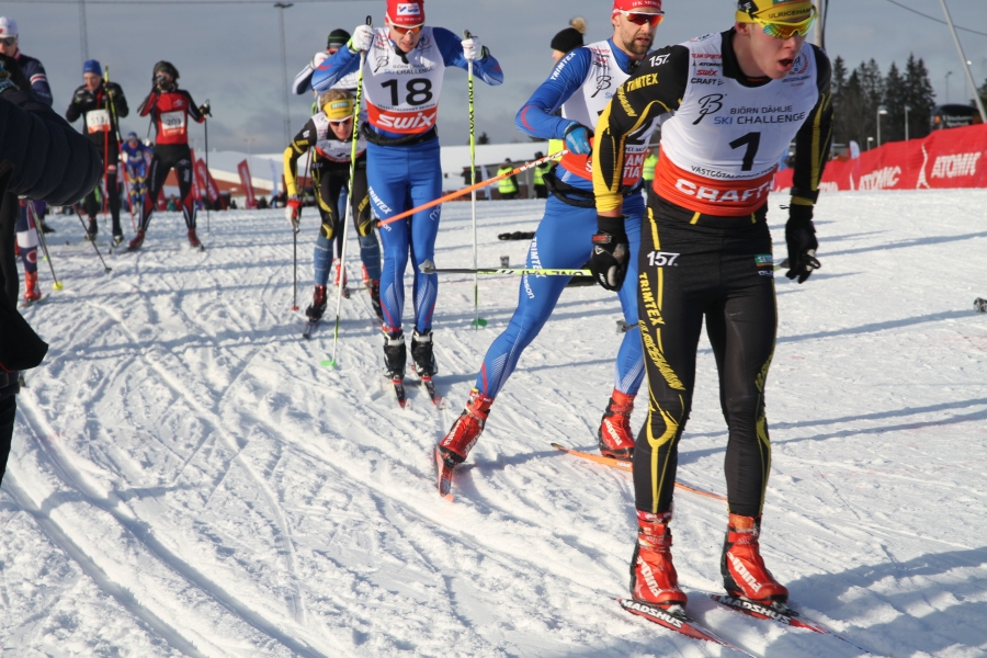 Gotting drar tätklungan följd av David Frisk, Lars Suther, mig och Patrik Johansson