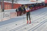 Martin Gotting spurtar in som tvåa i Västgötaloppet 2016, hans bästa skidresultat någonsin (hittills)