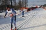 Patrik Johansson spurtar ner Lars Suther i kampen om tredjeplatsen i Västgötaloppet 2016