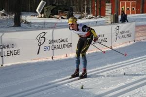 Ut på sista varvet av sju fick jag släppa när David Frisk ryckte. Det blev en femteplats i Västgötaloppet 2016.