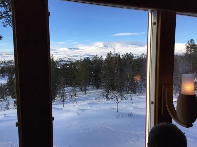 Helt OK utsikt från restaurangen på STF Grövelsjön
