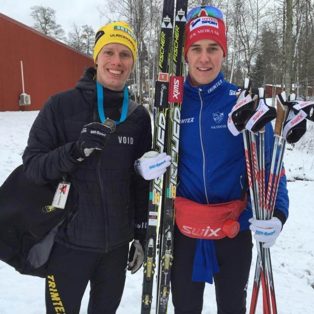 Andreas Holmberg och jag efter Västgötaloppet 2016