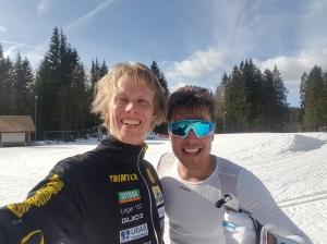 Riktigt trevlig förmiddag vid Hestrastugan med Rickard Bergengren