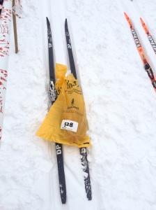 DP längdskidor. Kul att det nya märket tagit sig enda in i elitklungan. Tror det var Madelene Carlzons skidor.