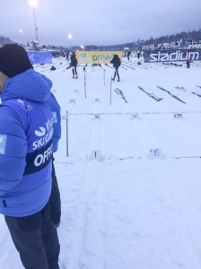 För första gången någonsin blev jag seedad i Vasaloppets elitled. Jag stod bakom Petter Eliiassen och Lars Suther.