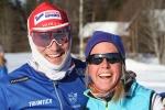 Daniel Svensson och Astrid Øyre Slind träningsåkte under Öppet Spår måndag.