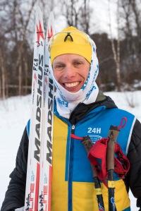 Erik Wickström efter 24-timmars. Foto: Magnus Östh.