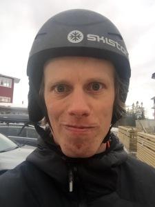 Så här såg jag ut när jag åkte slalom med Astrid i Björnens barnbackar tre dagar innan 24-timmars
