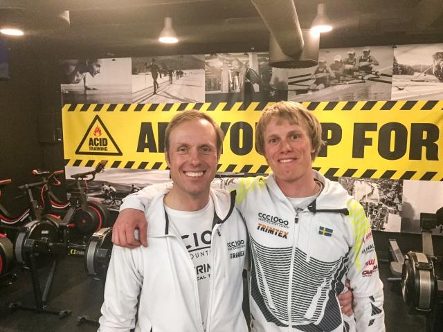Fredrik Erixon och jag på Acid Training