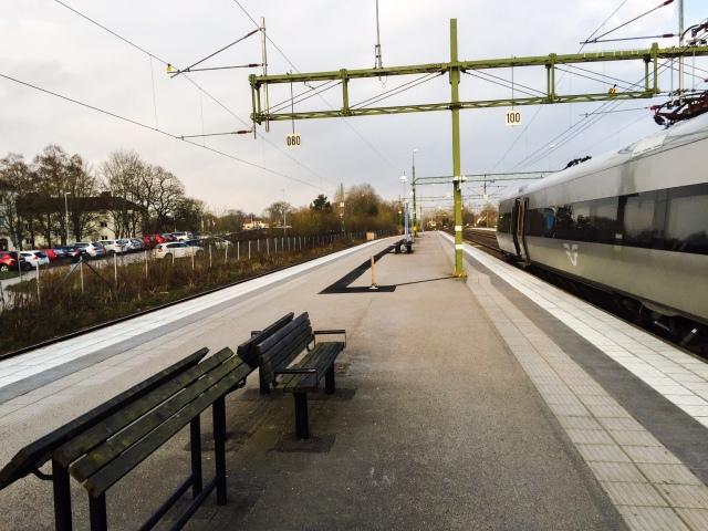 Tågstationen i Herrljunga. En klassiker. Apropå klassiker så har En svensk klassiker startat en egen TV-kanal som finns här.