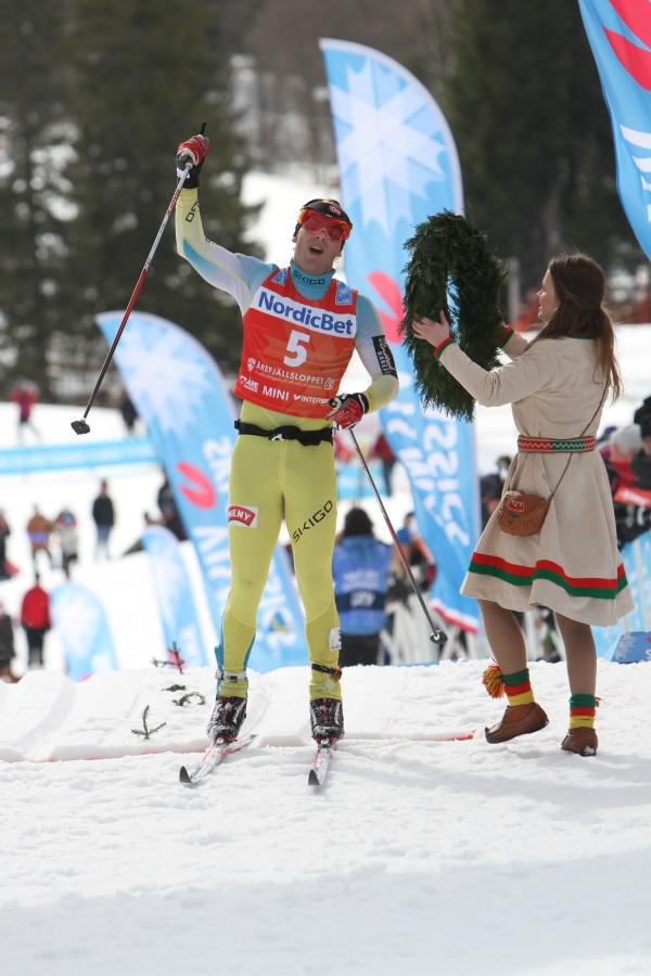 Johan Kjølstad vinner Årefjällsloppet 2016
