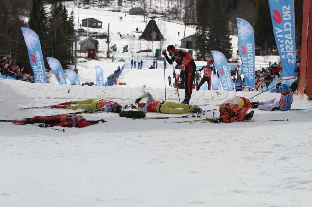 Fikasuget värre vid Årefjällsloppet 2016. Anders Aukland last man standing.