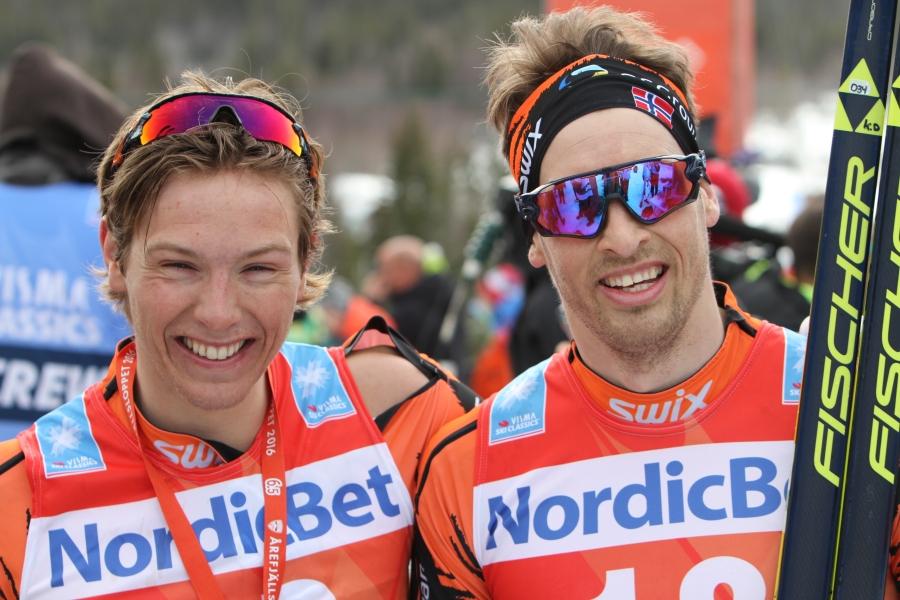 Christoffer Callesen och Kjetil Dammen, snubbarna som snyggt låg i lång utbrytning i Vasaloppet